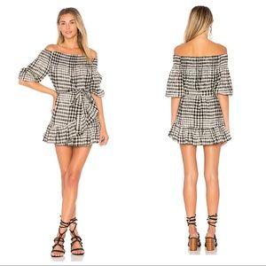 Revolve {Tularosa} off shoulder ruffle dress
